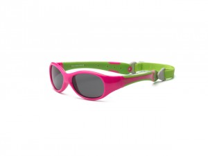 Okulary Explorer – Cherry Pink and Lime 0+